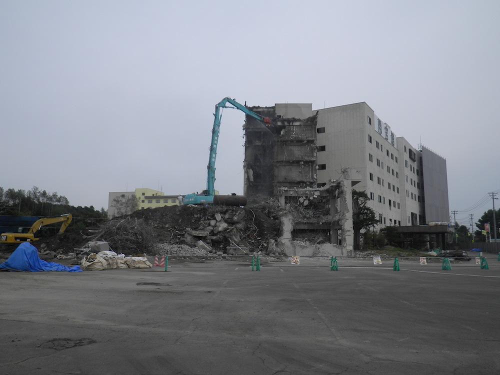 ホテル雨宮館解体