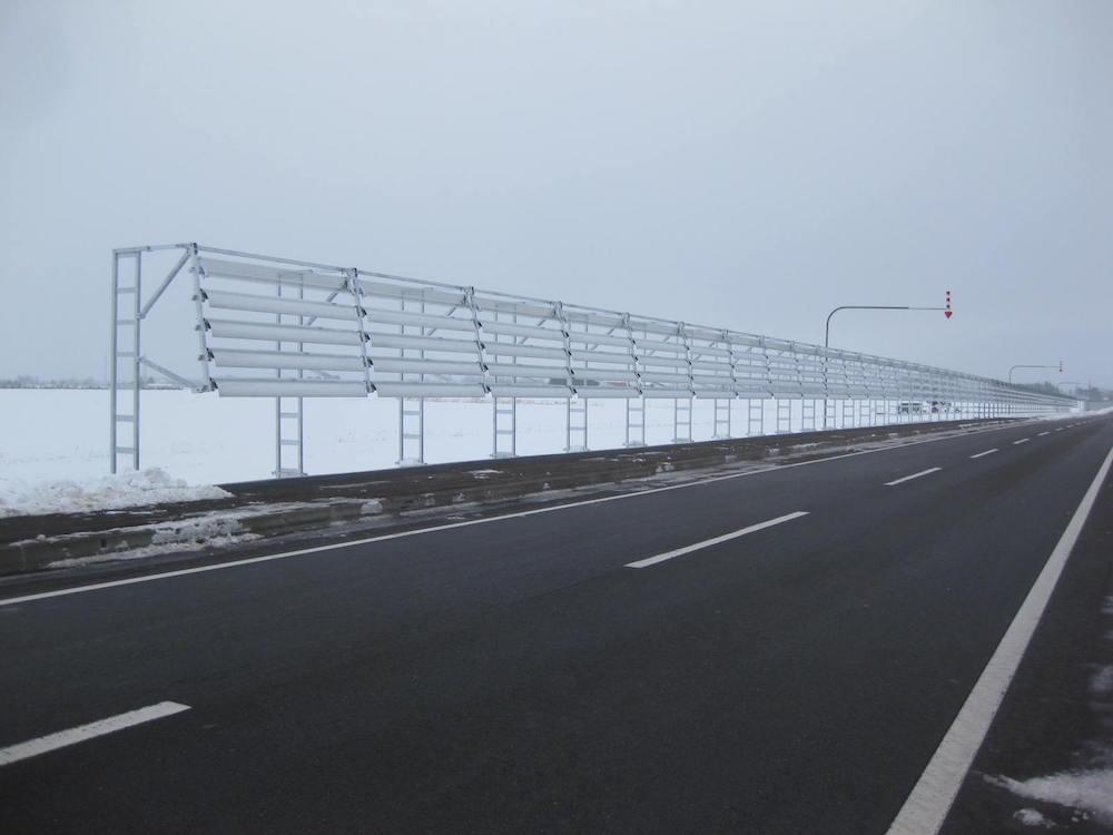 八千代帯広線-防B852雪寒工事防雪柵
