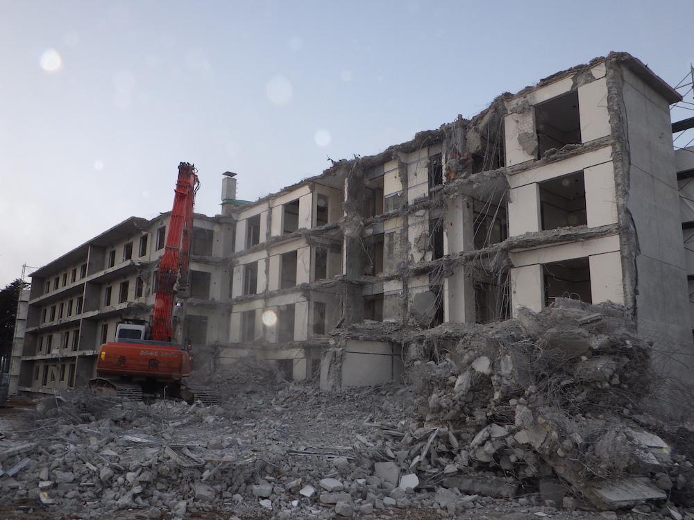 帯広刑務所職員宿舎解体工事